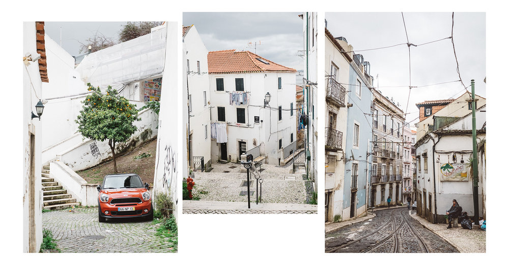 The streets of the famous Alfama district, Lisbon