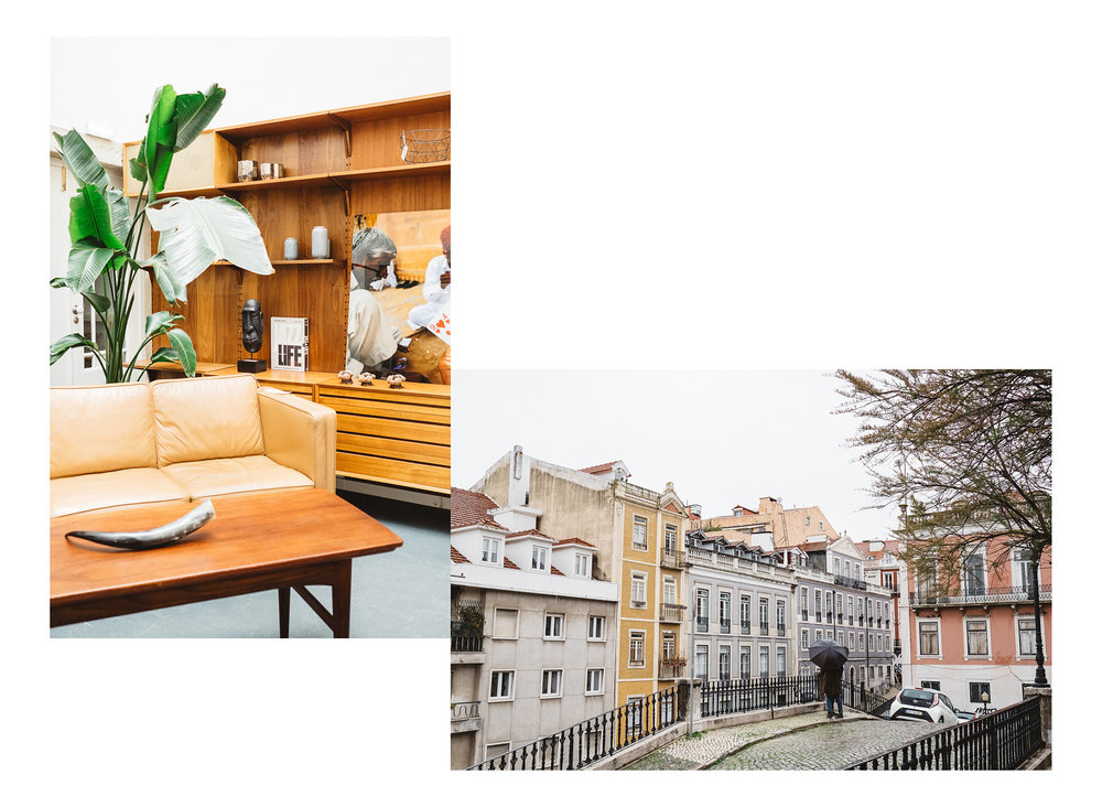 The Bairro Alto district of Lisbon provides cool shopping and beautiful views