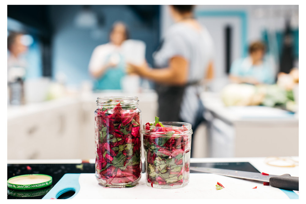 Foodie things to do in Brighton - the basics of fermentation at the community kitchen.