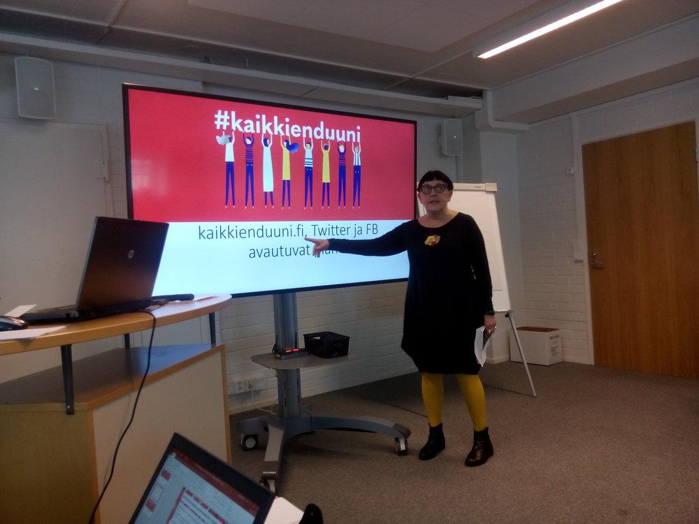 Marja-Leena Haataja kertoi myös, että SEGLI-hankkeen uudet nettisivut on avattu