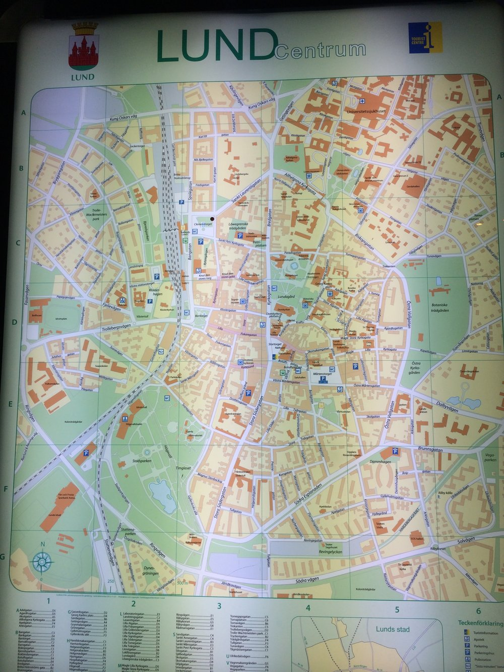 map of Lund