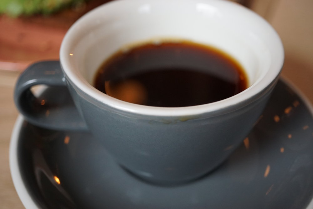 Black coffee from  Gast cafe  in Stockholm