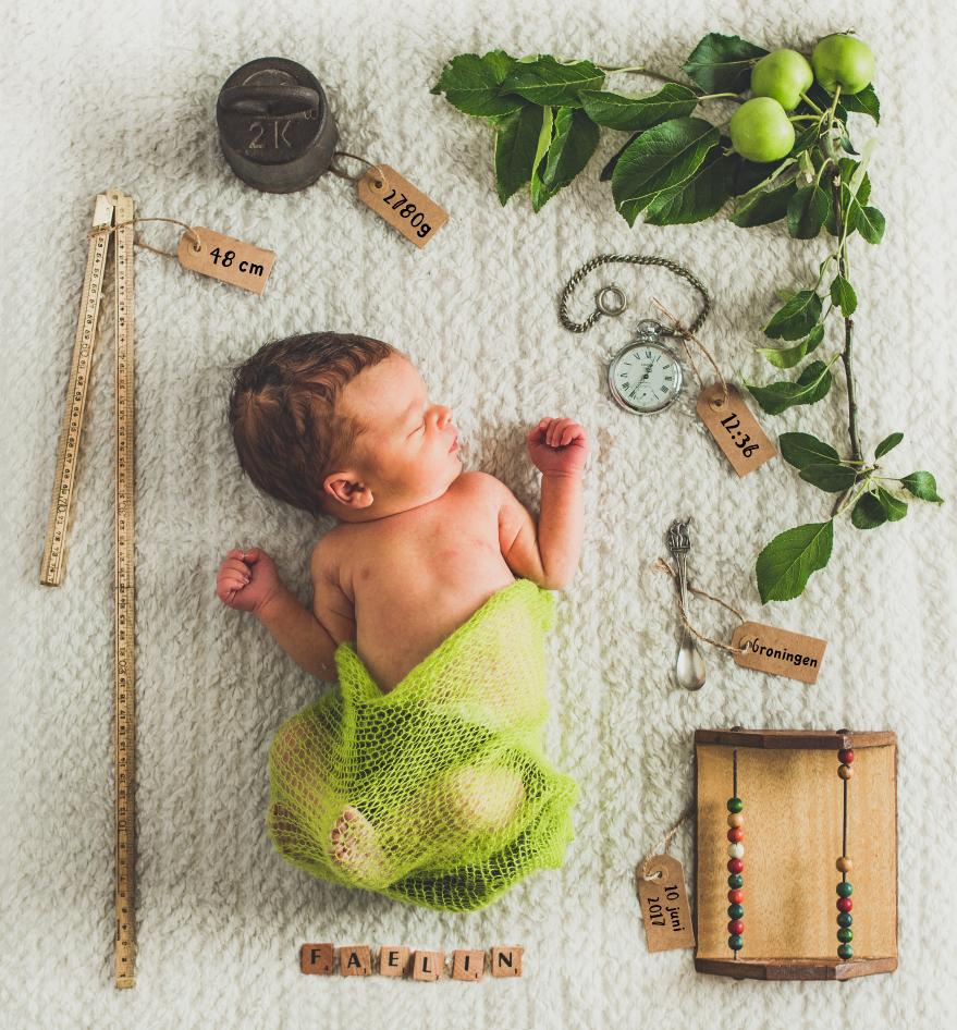 Geboortekaart fotografie - Faelin