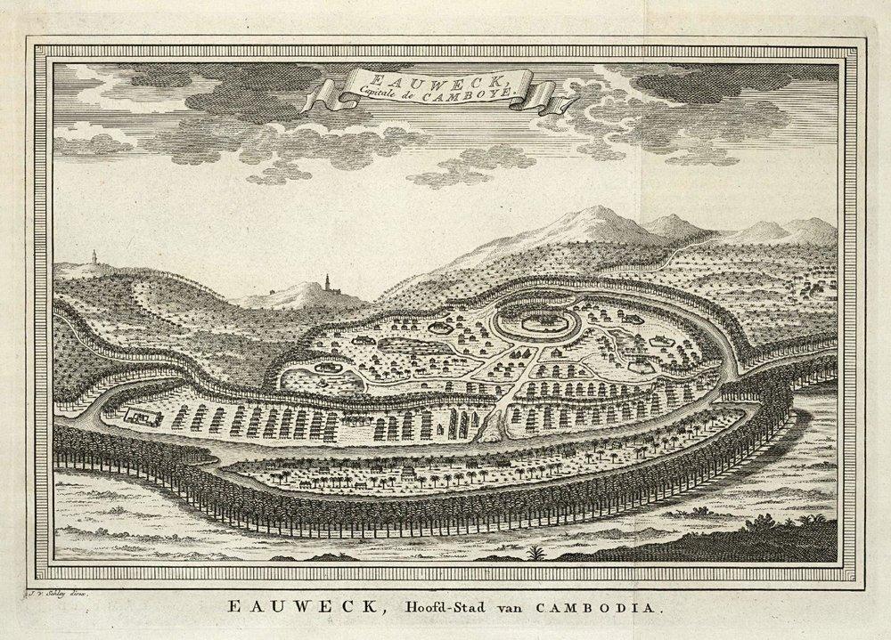 View of Longvek, 1749