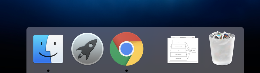 These are literally the only icons on my MacBook Pro's Dock.