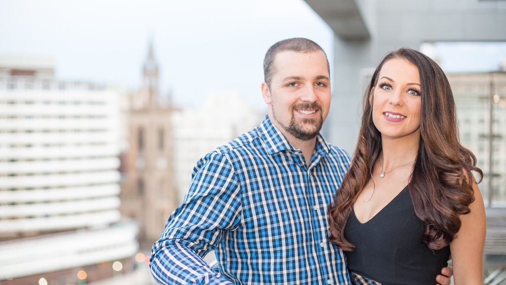 Sam Hannah & Laura Varrie - The gorgeous couple got engaged. We shot at this awesome place L3 penthouse in Liverpool.