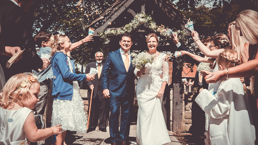 Ruth & Jonathan  - Wedding photography at St Michaels in Lancashire. The married couple had an amazing day.