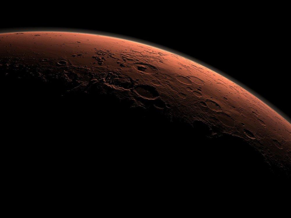 Daybreak at Gale Crater. Image credit: NASA/JPL/Caltech