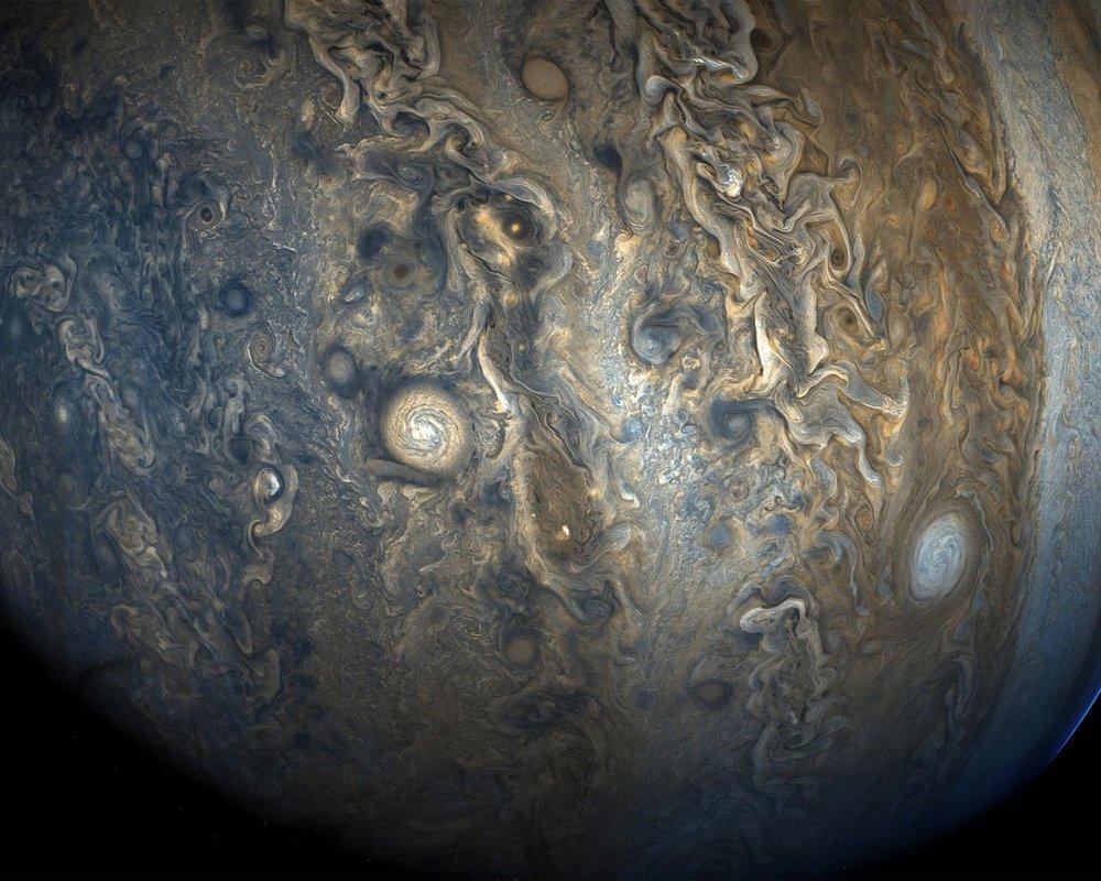 Southern hemisphere. Image credit: NASA/JPL/Caltech SwRI/MSSS