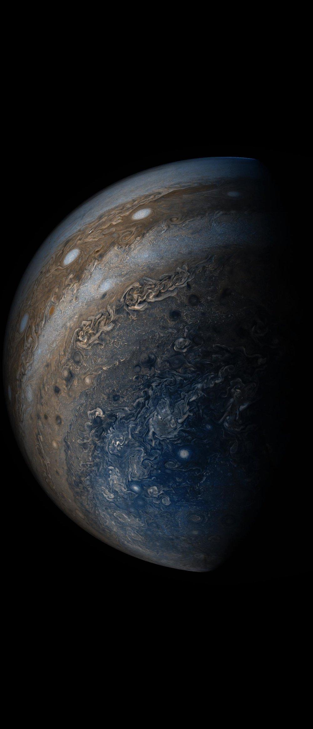 Jupiter's Clouds. Image credit: NASA/JPL/Caltech  SwRI/MSSS/Gerald Eichstadt/Sean Doran