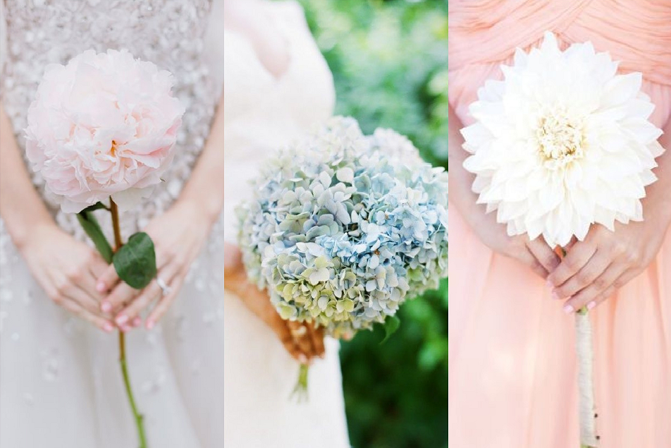 single bouquet wedding
