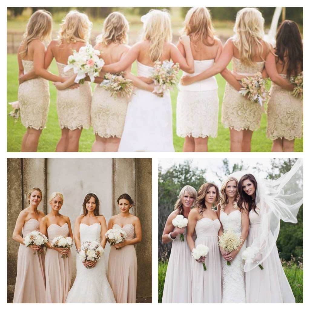 Nude Bridesmaid Dress