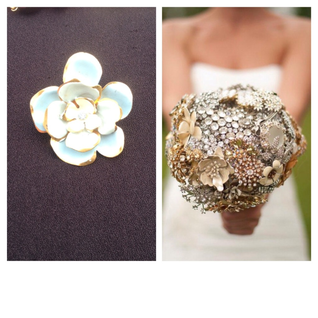 Brooch Wedding Vintage Bouquet