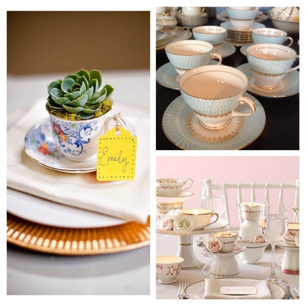Tea Cup Antique Wedding Aberfoyle
