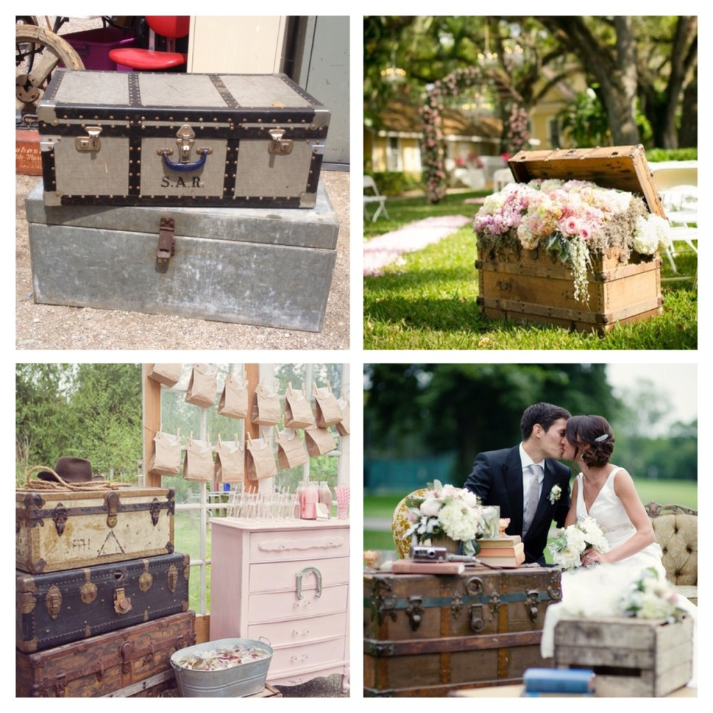 Antique Trunk Wedding Aberfoyle
