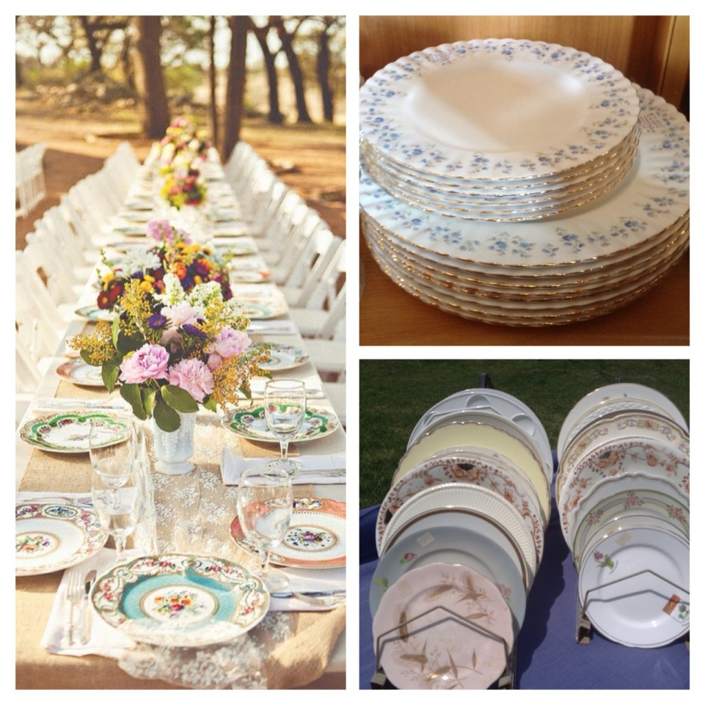 Antique Plates Wedding Aberfoyle