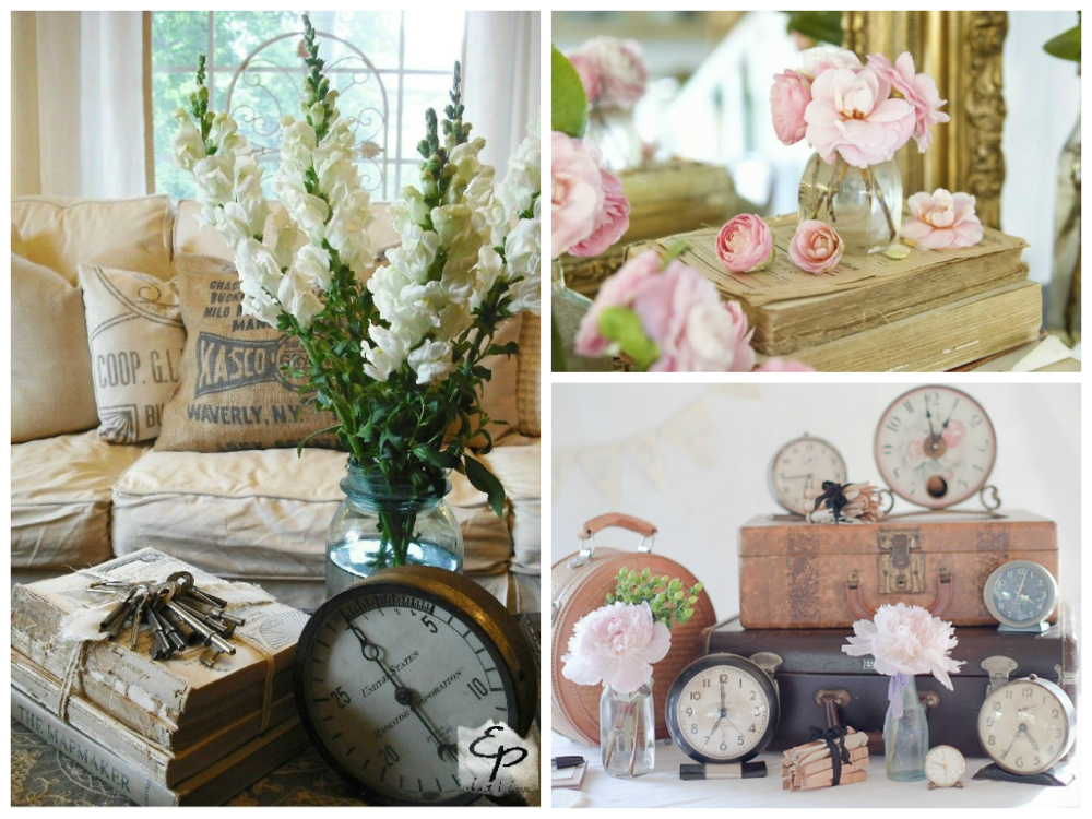 from left to right: image via   Ethereal Plus What I Love  , image via   French Country Cottage