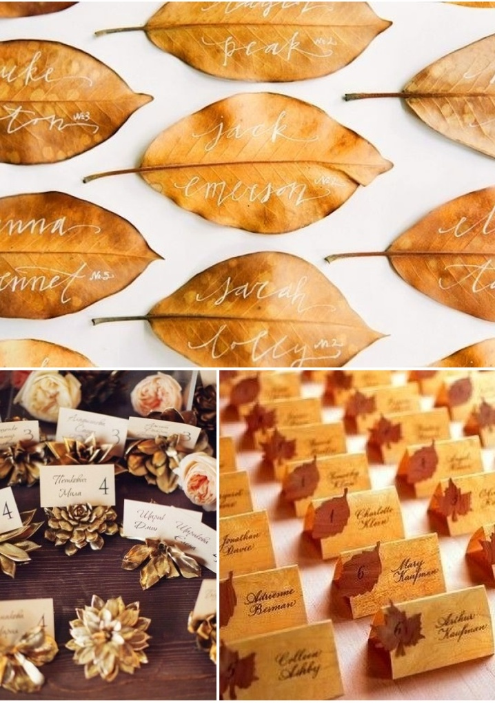 Fall Wedding Placecards