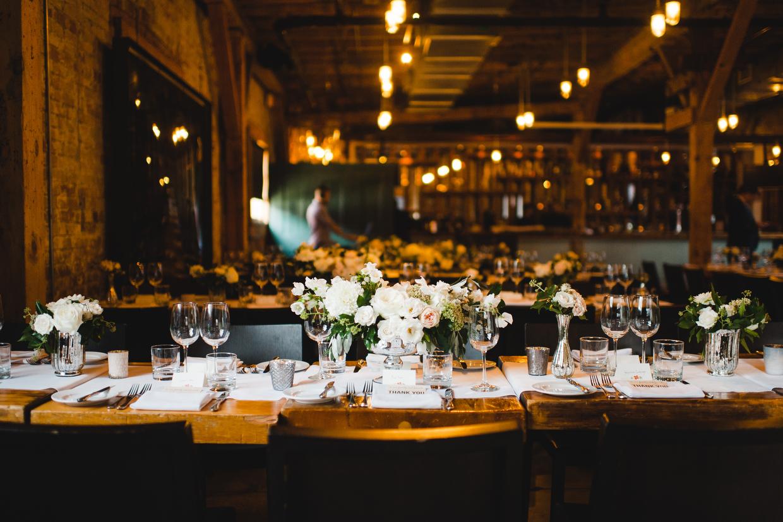 Top hat restaurant wedding