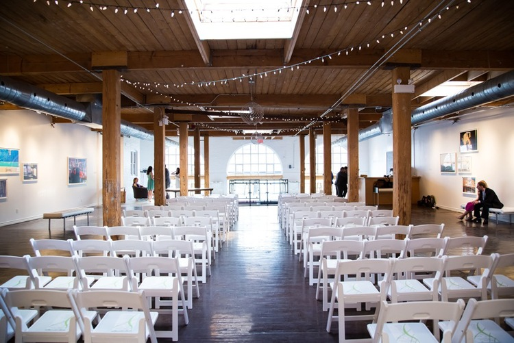 There Are Beautiful Wood Beams Throughout The Space But Winning Feature Of This Toronto Loft Wedding Venue French Arch Windows