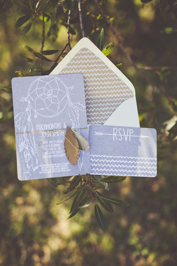 boho wedding invite idea