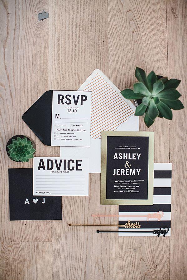 modern invite idea