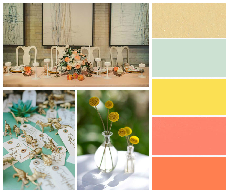 Funky Wedding Colours