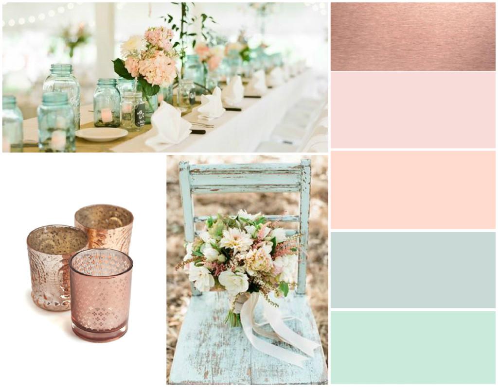 Pretty Pastel Wedding Colours