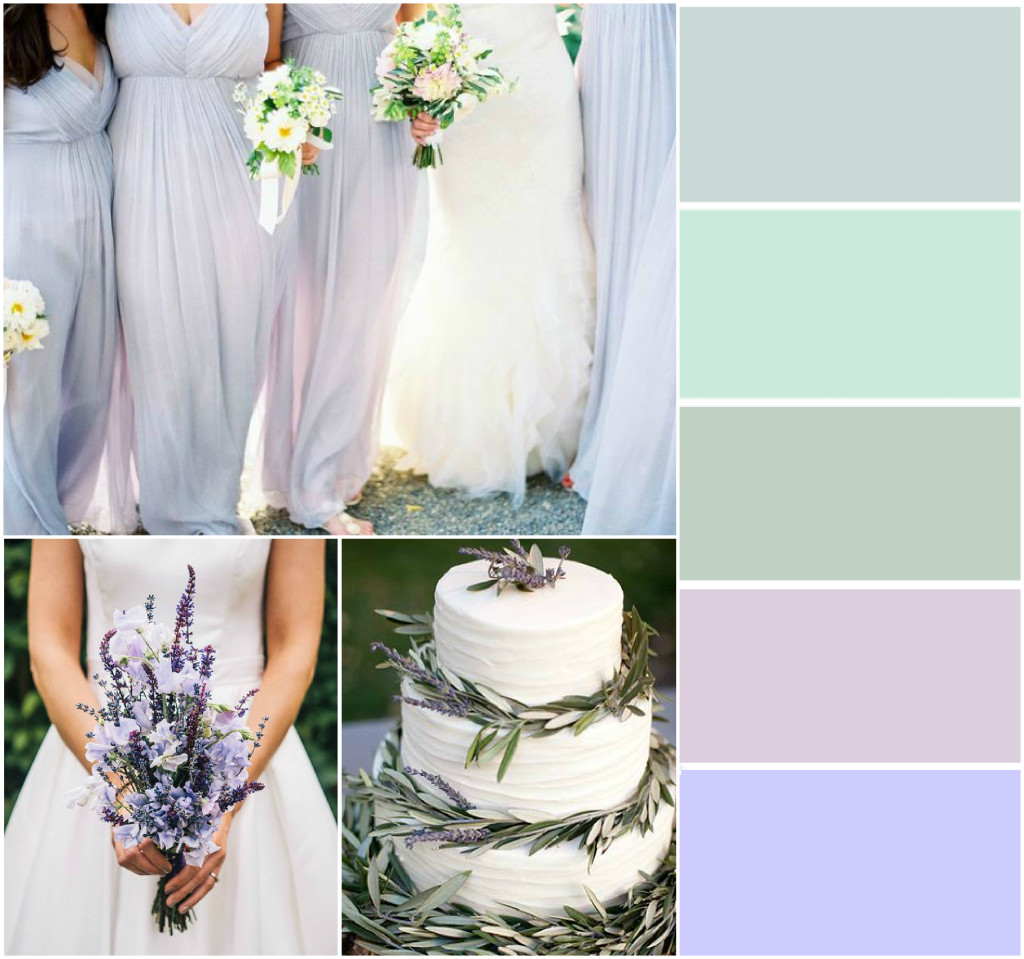 Sage and Lavender Wedding Colours