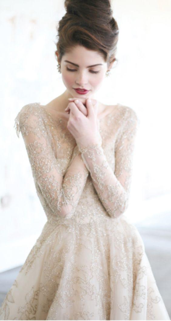 Non-white wedding dresses
