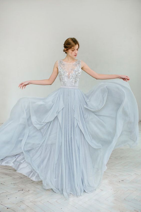 Stunning non white wedding dresses blush bowties toronto baby blue non white wedding dresses junglespirit Choice Image