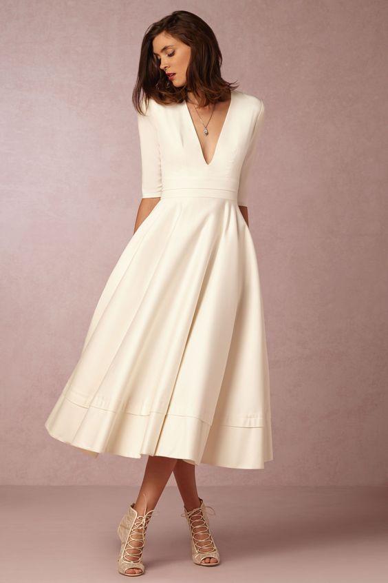 c426e6a0c814b Short Wedding Dress Ideas — Blush + Bowties
