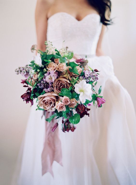 Berry Tone Bouquets