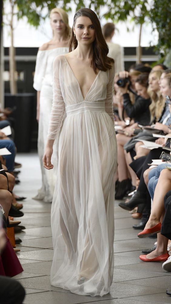 image via AOL | dress by Delphine Manivet Bridal Fall 2015