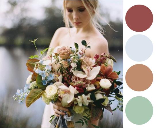 wedding colour platte