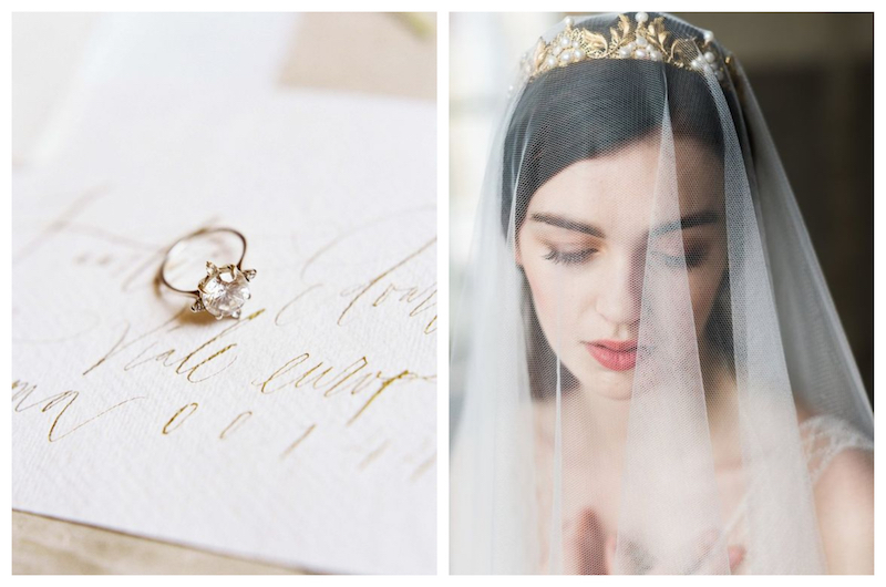 images via  Wedding Sparrow ,  Noon on the Moon