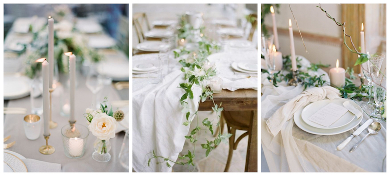 images via  Style Me Pretty ,  Wedding Sparrow ,  East Made Event