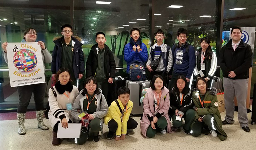 11 students and 1 chaperone from the Dongguan Language School in China visited SLA from January 27 to February 9.