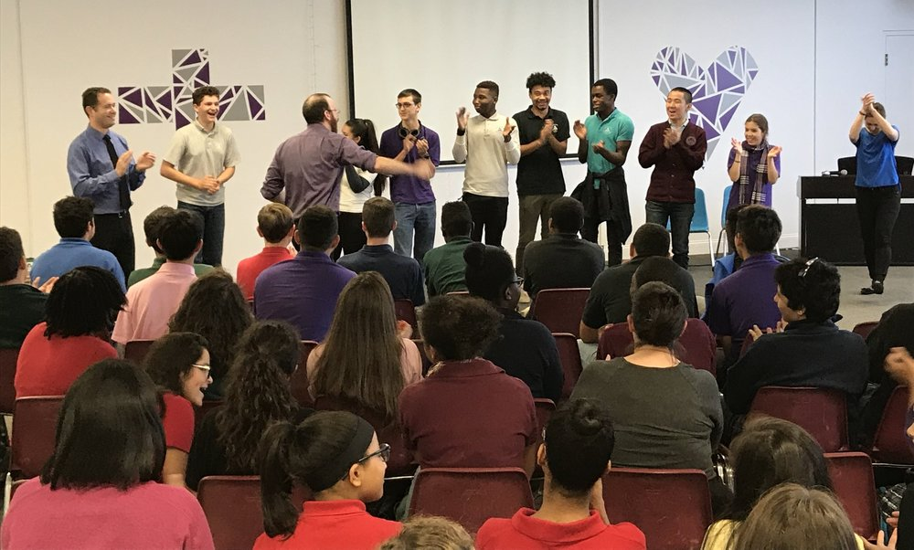 ImprovBoston presented a fun, informative and interactive assembly about anti-bullying where the students got a chance to role play and share their thoughts.