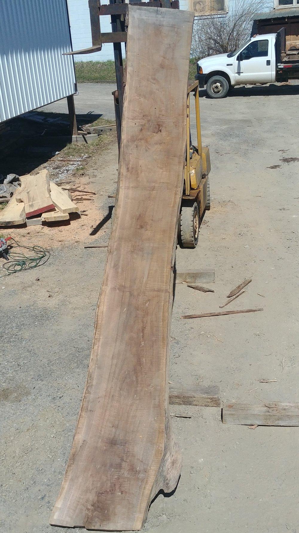 $1300 - Black walnut20-24 inches wide16 feet long10/4light curl1 knot