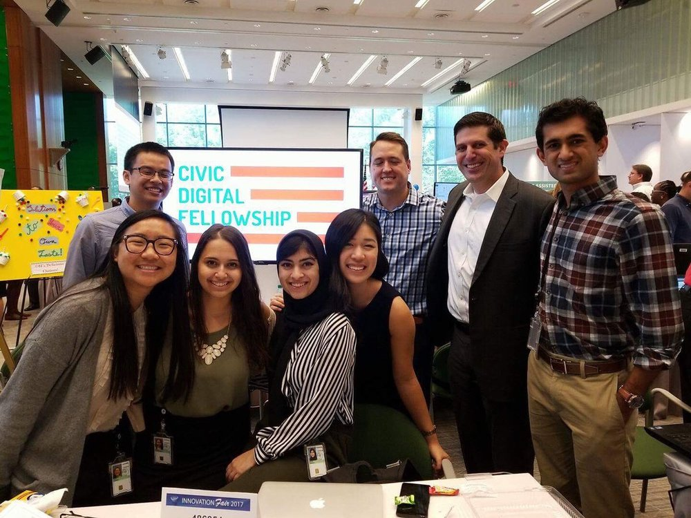 Jeff Meisel (middle back) with some of the fellows at the Census Innovation Fair.