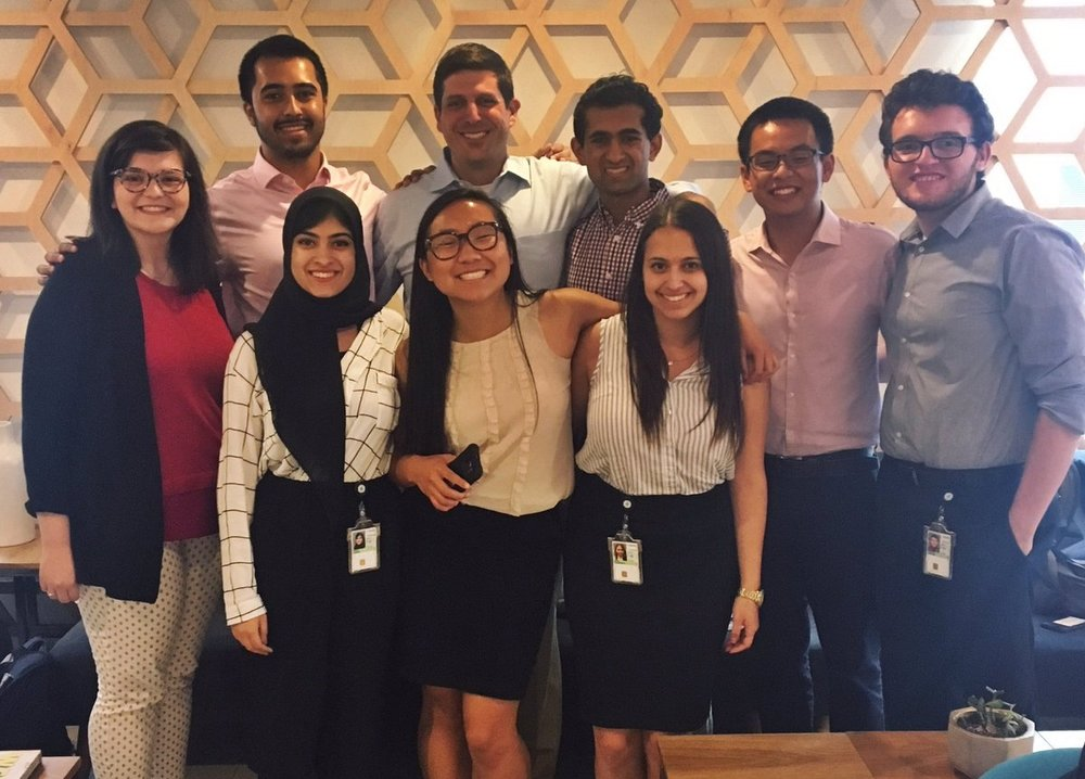 Several of the 2017 Civic Digital Fellows are pictured with Nick Sinai.
