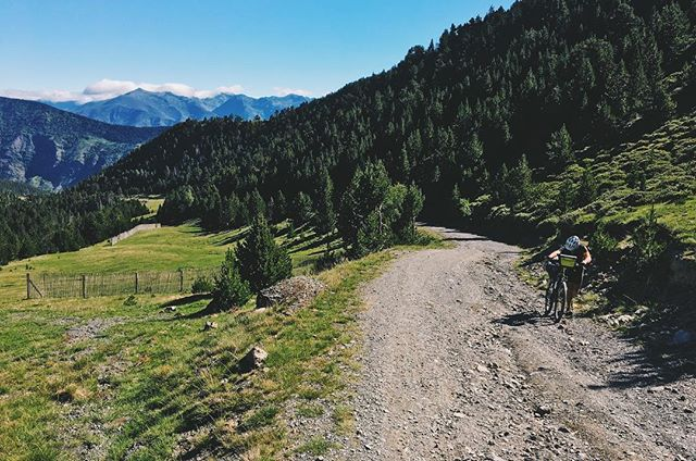 Climbing the pass from #Espot to top of the ski resort in the Pyrenees during the @cat700_brevet  #bikepacking #brevet #bicycletouring #adventurecycling