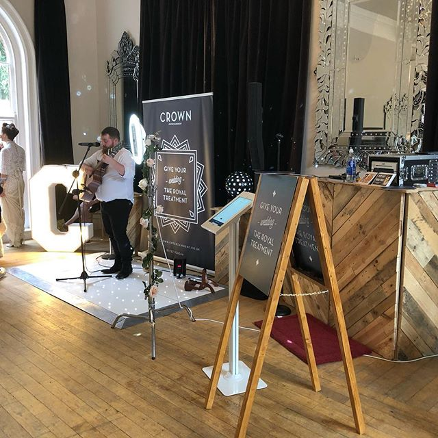 Awesome setup at Exeter Castle for @bluefizzevents Decidedly Different Wedding Fair! #DJ #dancefloor #letterlights #palletbooth #plymouth #weddingDJ