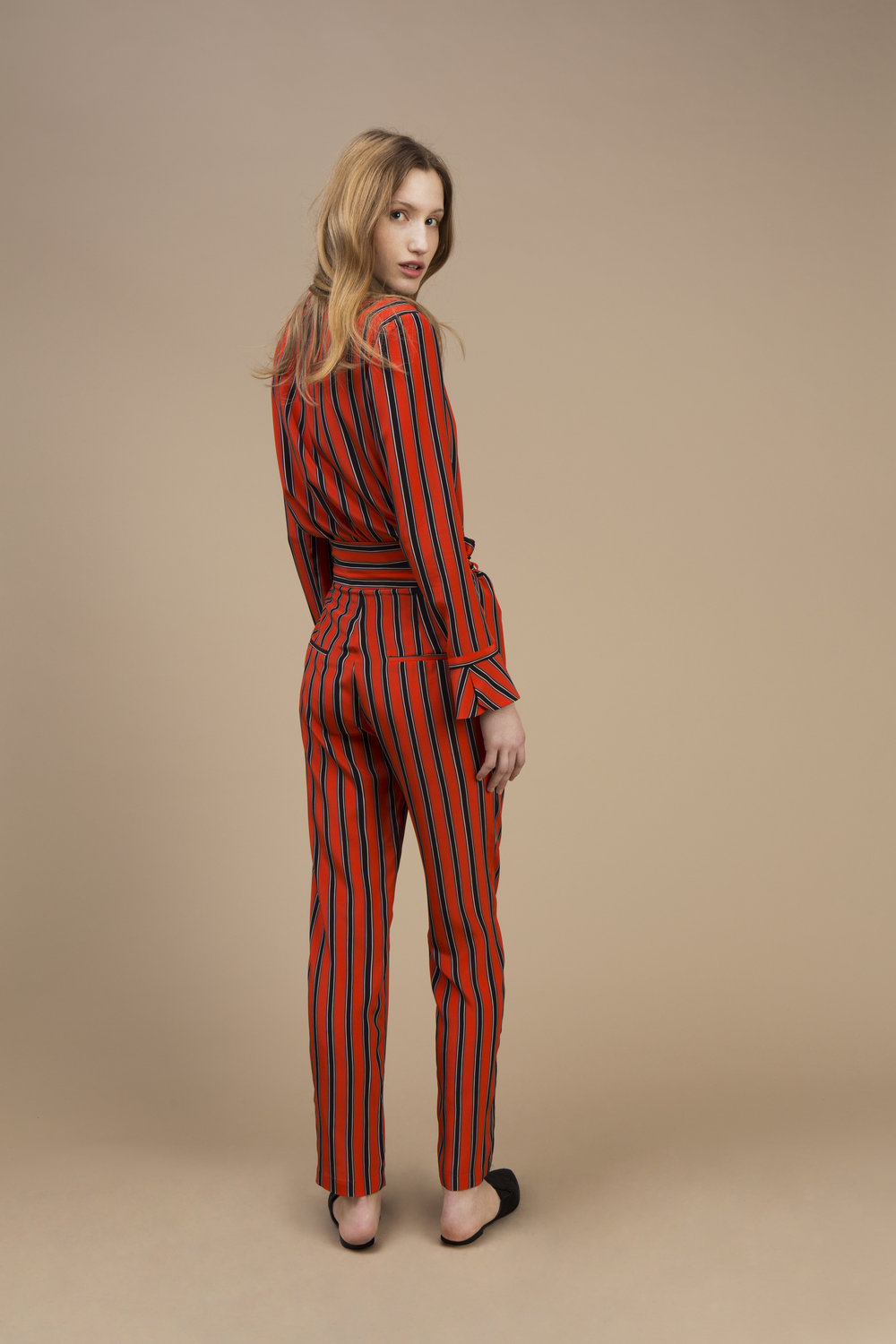 Crepe silk Small collar shirt and Highwaist pant — Rock Candy