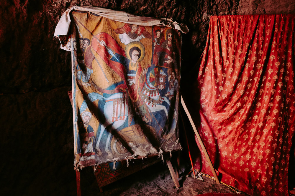 Saint George and the Dragon – Church of Saint George, Lalibela
