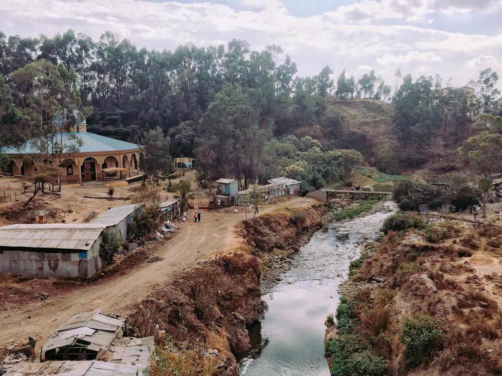 A view of the Bulbula river – Addis Ababa