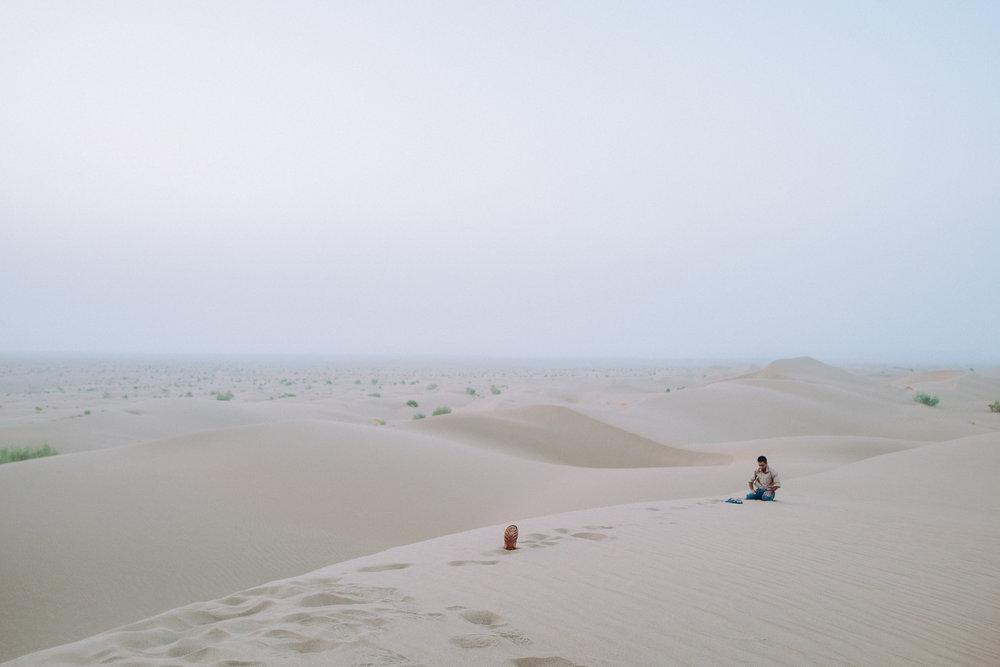 Evening Prayers - Mesr Desert, Yazd