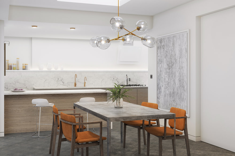 Kitchen Dining Rear House Extension Dulwich London
