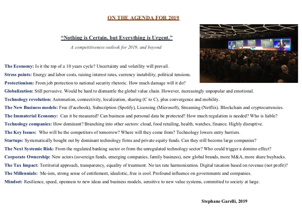 Stephane Garelli keynote speaker
